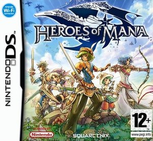 Heroes of Mana - European cover art