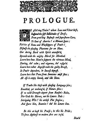 Irene (play) - Prologue of Irene, first edition 1749