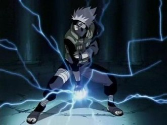 Kakashi Hatake - Kakashi using Lightning Blade.