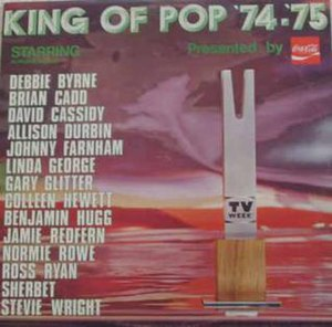 Australian pop music awards - King of Pop '74–'75 Shows winners trophy.