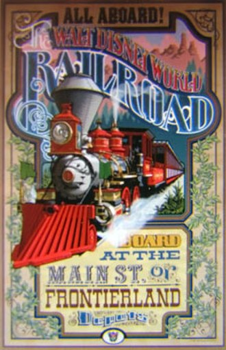 Walt Disney World Railroad - Image: Magic Kingdom Walt Disney World Railroad poster