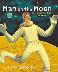 a man on the moom book