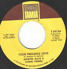 Marvin Gaye and Tammi Terrell Your Precious Love single label.jpg