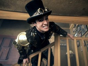 """The Ballad of Mona Lisa - Urie in steampunk attire in the music video for """"The Ballad of Mona Lisa""""."""