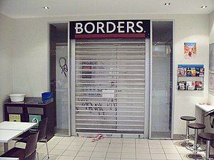 Borders (Asia Pacific) - Image: Old Borders signage Lygon Court