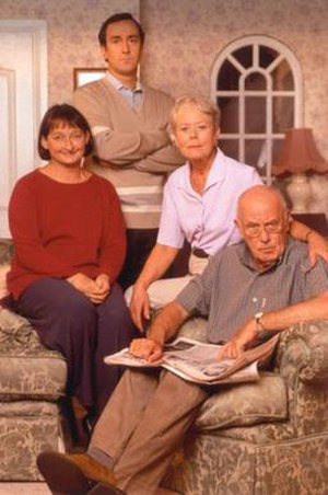 One Foot in the Grave - From left to right:  Janine Duvitski, Angus Deayton, Annette Crosbie, Richard Wilson