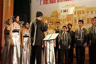PUPLHS Chorale - Performance at the 1st Vietnam Choral Festival