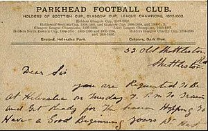 Parkhead F.C. - A ticket to the game in 1903