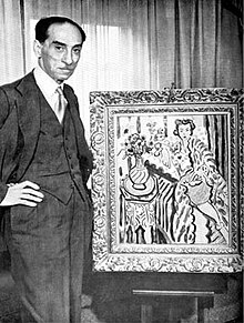 Paul Rosenberg, with Odalisque in a Yellow Robe, 1937, by Henri Matisse.jpg