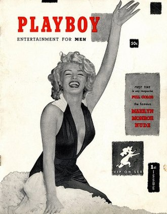 Playboy - The front cover of the first issue of Playboy, featuring Marilyn Monroe, December 1953