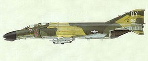Richard Bassford - Airbrush illustration of F-4D Phantom by Richard Bassford