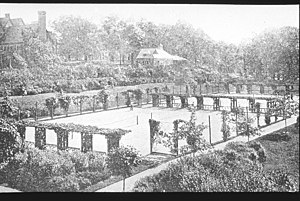 Pope Park (Connecticut) - Tennis courts in Pope Park, circa 1893.
