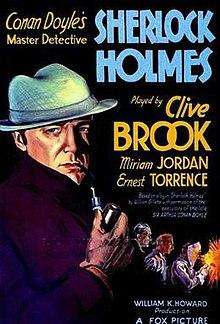Poster of Sherlock Holmes (1932 film).jpg