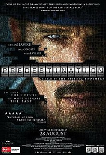 <i>Predestination</i> (film) 2014 science fiction mystery thriller film directed by Spierig brothers