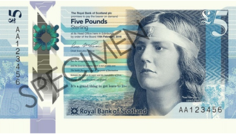 RBS polymer £5 note