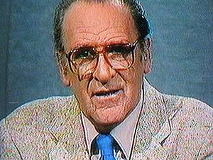 Charles Mitchel - Mitchel on his last news broadcast in 1984