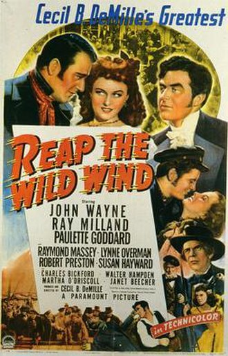 Reap the Wild Wind - DVD cover with cast out of order