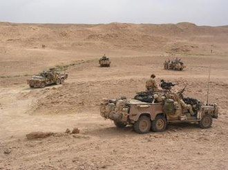 Australian contribution to the 2003 invasion of Iraq - A Long Range Patrol Vehicle-mounted SASR patrol in western Iraq