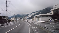 View of Motoyama on route 439
