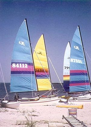 Fenwick Island, Delaware - Image: Sailboats 1
