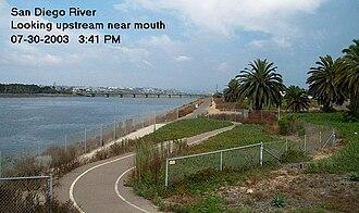 Midway, San Diego - Image: Sandiegoriver 2