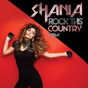 Rock This Country Tour - Image: Shania Twain Rock This Country Tour (Official Poster)