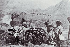 "RML 2.5 inch Mountain Gun - Sikh gunners with a ""screw gun"""