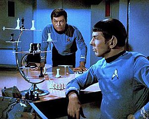 """Three-dimensional chess - 3D chess on Star Trek (from the episode """"Court Martial"""")"""