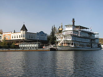 Riverboat Discovery - The Discovery III docked in Fairbanks, Alaska.