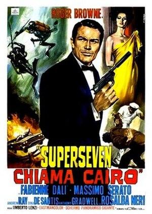 Super Seven Calling Cairo - Film poster by Renato Casaro