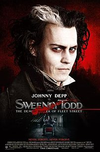 Theatrical release poster for the Tim Burton film