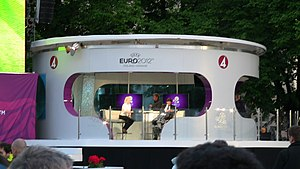 TV4 (Sweden) - TV4 Official Fan Zone in Stockholm during UEFA EURO 2012