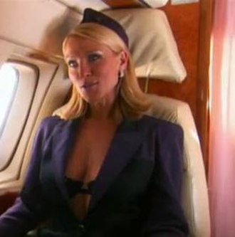 """Tanya Turner - The highly controversial mile high scene between Tanya and Conrad was dubbed """"the sexiest ever scene on British television"""" by The Mirror"""