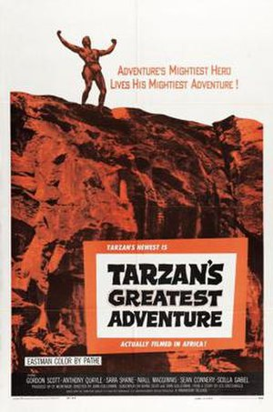 Tarzan's Greatest Adventure - Image: Tarzan's Greatest Adventure (movie poster)