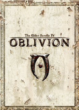 Against a plain face of aged and scratched marble, the title of the game is embossed in metallic font. At the center of the frame, in the same style as the title, is an uneven runic trilith with a dot in its middle. Icons representing the developer, publisher, and content rating are placed along the bottom of the frame.