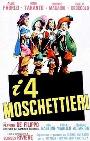 The Four Musketeers (1963 film) - Image: The Four Musketeers (1963 film) I quattro moschettieri