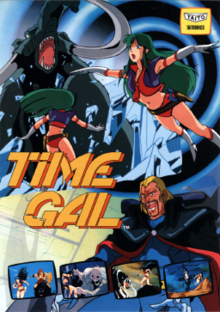 Japanese arcade flyer of Time Gal.
