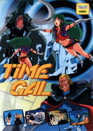 Time Gal - Image: Time Gal arcadeflyer