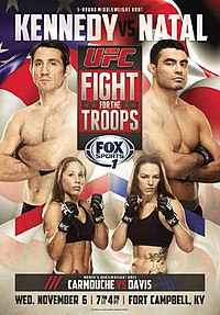 A poster or logo for UFC: Fight for the Troops 3.