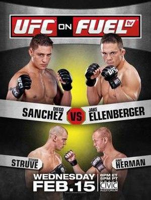 2012 in UFC - Image: UFC on Fuel TV Sanchez vs. Ellenberger poster