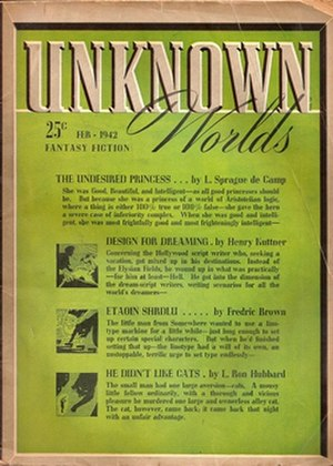 Unknown (magazine) - Cover for the February 1942 issue—an example of the more dignified cover layout that was adopted in July 1940