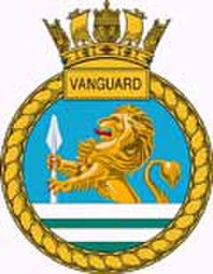 HMS Vanguard (S28) - Image: Vanguard crest