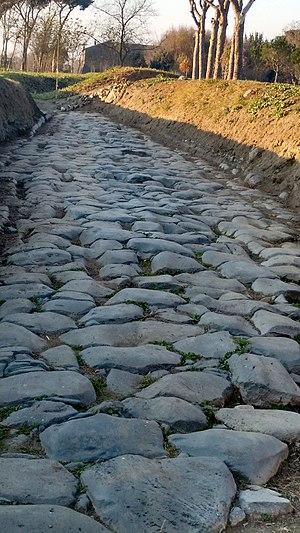 Via Latina - Original surface of the Via Latina in Rome's Parco degli Acquedotti