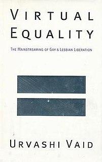 <i>Virtual Equality</i> 1995 book by Urvashi Vaid
