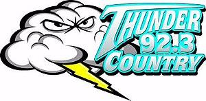 WSGA (FM) - Image: WSGA 92.3Thunder Country logo