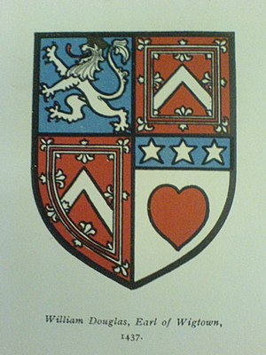 William Douglas, 6th Earl of Douglas - Arms of the 6th Earl of Douglas