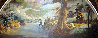 Battle of Wilson's Creek - The battle as depicted on a mural in the Missouri State Capitol