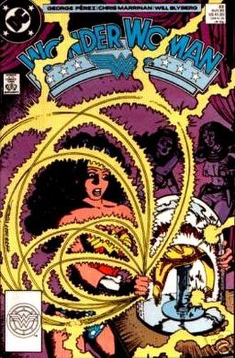 Golden Girdle of Gaea - Diana discovers the long lost Golden Girdle of Gaea. Art by Chris Marrinan and George Pérez.