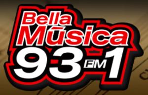 XHREZ-FM - Image: XHREZ Bella Musica 93.1 logo