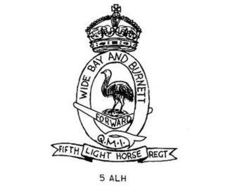 5th Light Horse Regiment (Australia) - 5th Light Horse Regiment hat badge
